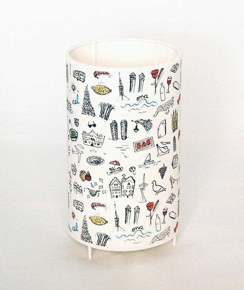 lámpara barcelona ilustrada a mano