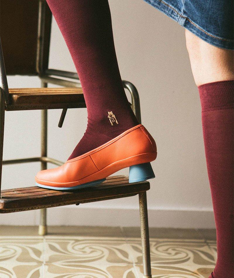 calcetines mujer algodón largos