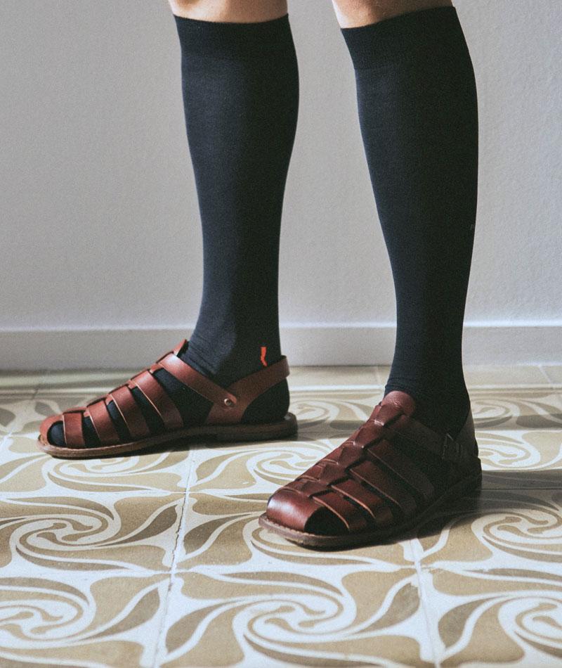 calcetines-largos-azules-algodon-guindilla-calzefratelli