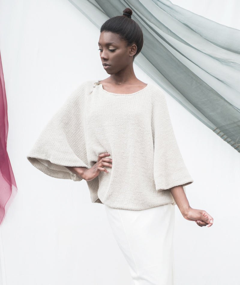 Jersey cáñamo ecológico de Miu Sutin fabricado en Barcelona