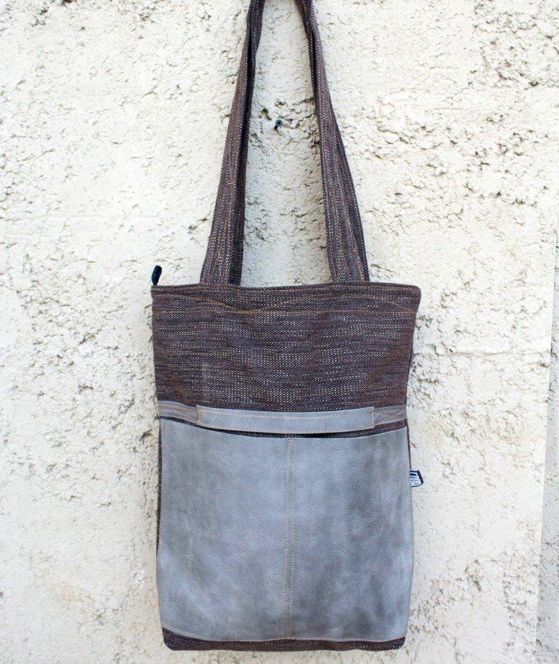 bolso zero waste material reutilizado fabricado en alicante