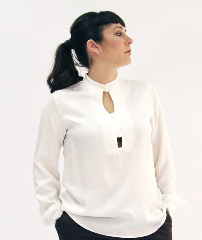 blusa algodón orgánico y producción local Art and Seams para The Goood Shop
