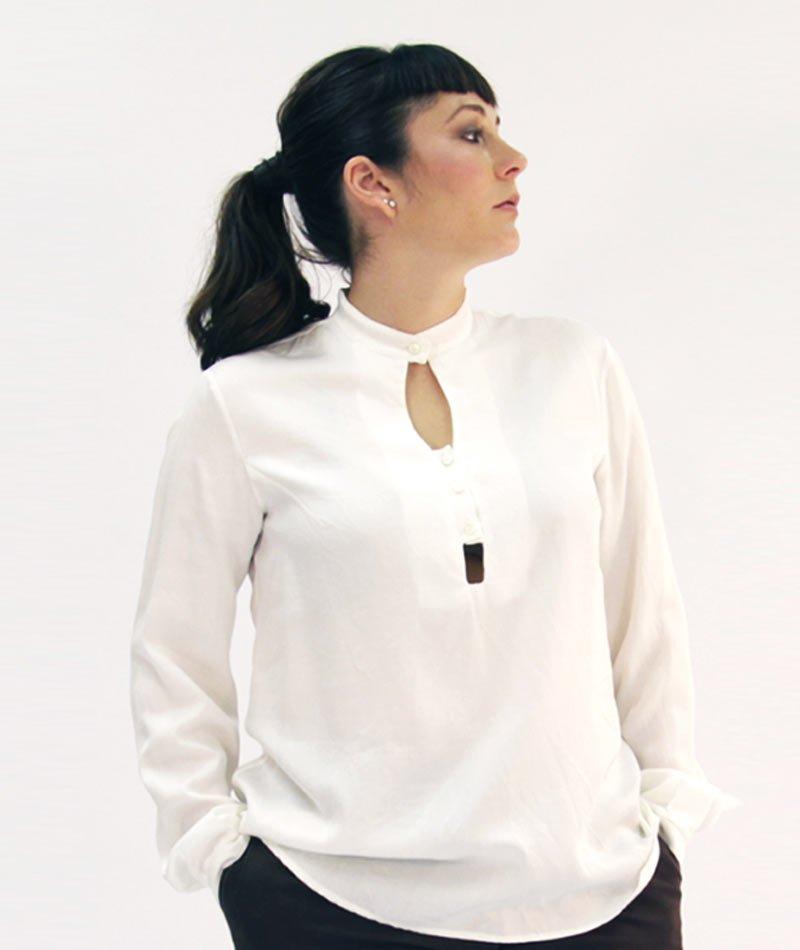 blusa algodón orgánico y producción local Art and Seams para The Goood Shop