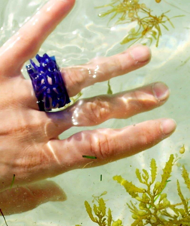 anillo metacrilato upcycling