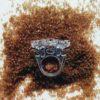 anillo alga metacrilato hecho a mano
