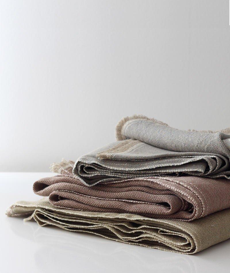 manta de lino artesanal teixidors