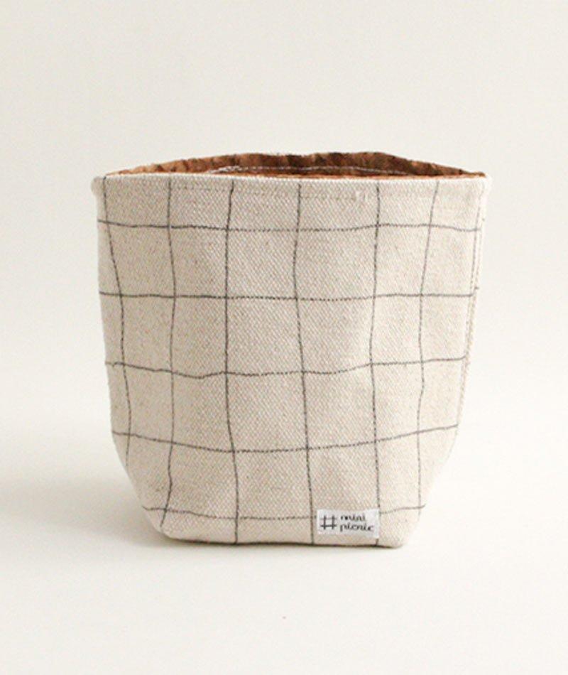 cesta algodón corcho
