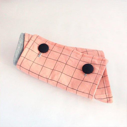 cuello lino melocoton rosa