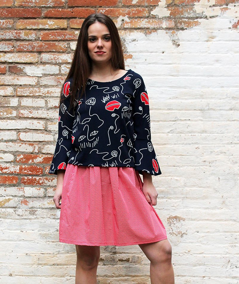 falda-lunares-roja