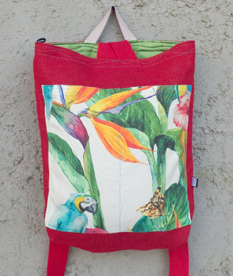 mochila flores hiroba