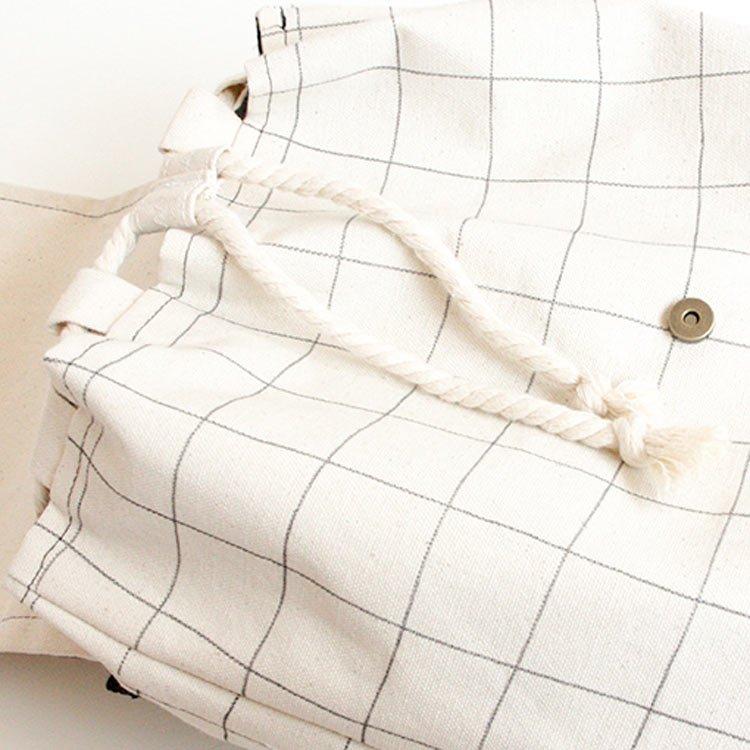 mochila algodón crudo