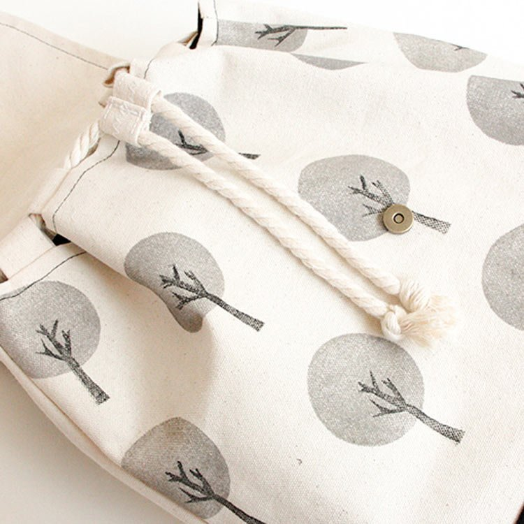 mochila algodon crudo