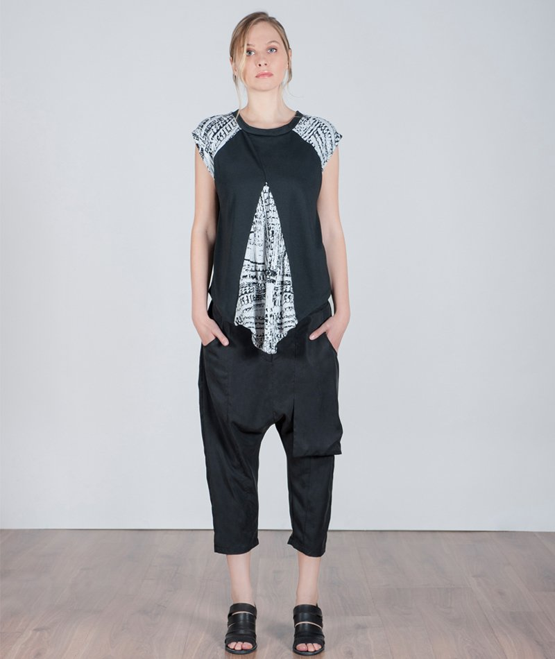 pantalon tencel negro