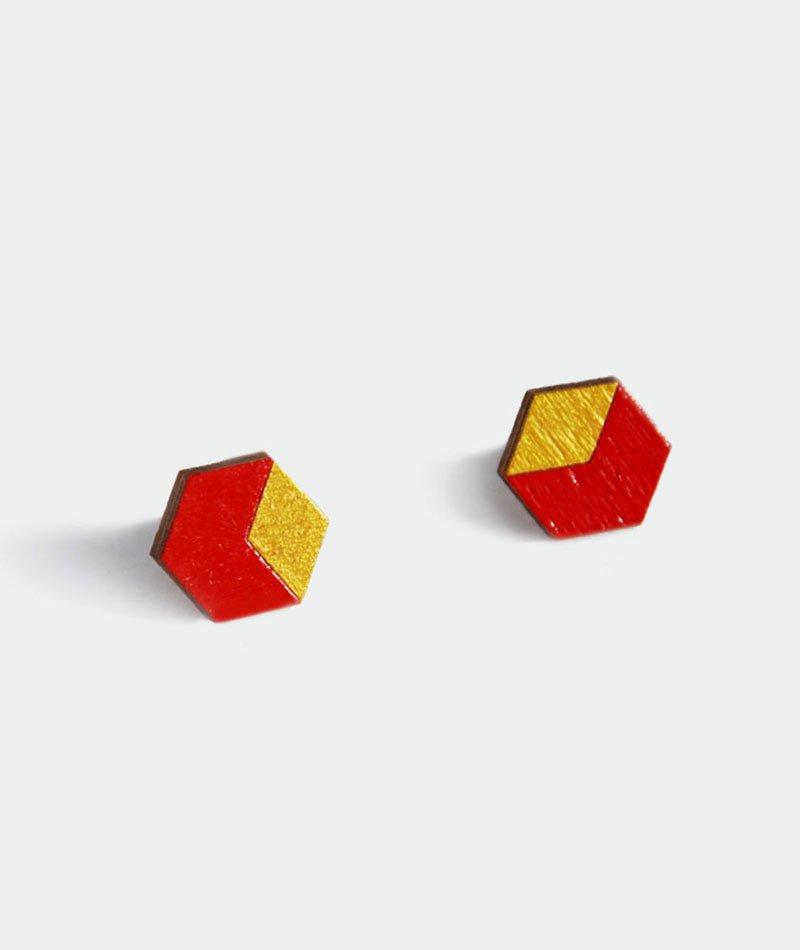 pendientes-hexagono-madera