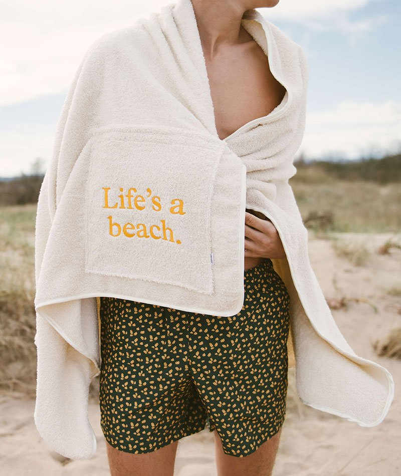 toalla playa algodón 100% barcelona