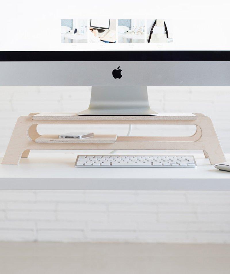 soporte ordenador madera