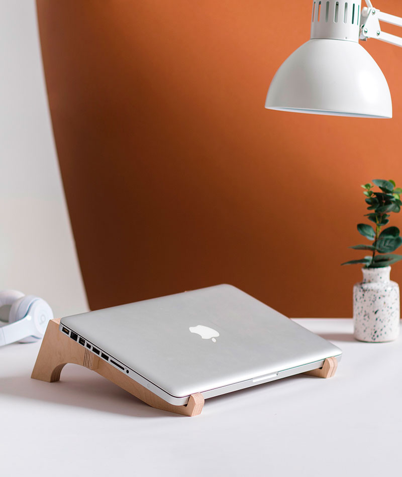 wooden laptop holder