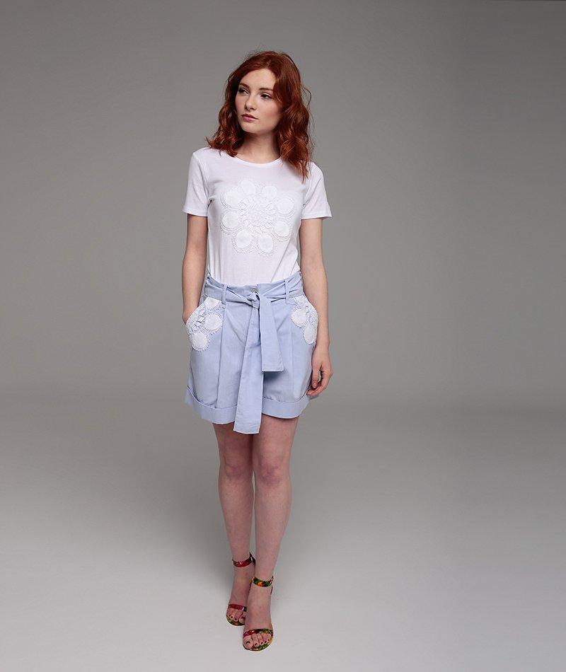 pantalón corto azul claro mammisi