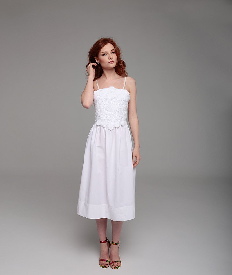 vestido ecológico bordado