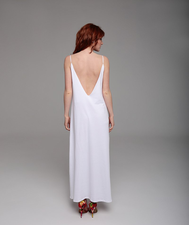vestido blanco largo algodón