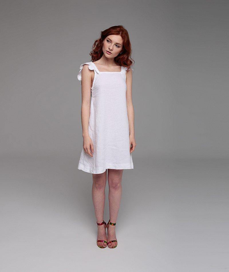 vestido lino blanco fabricado en españa