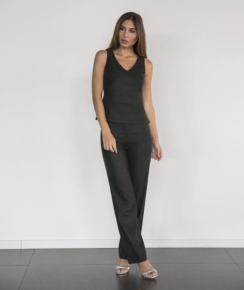top negro elegante y sostenible