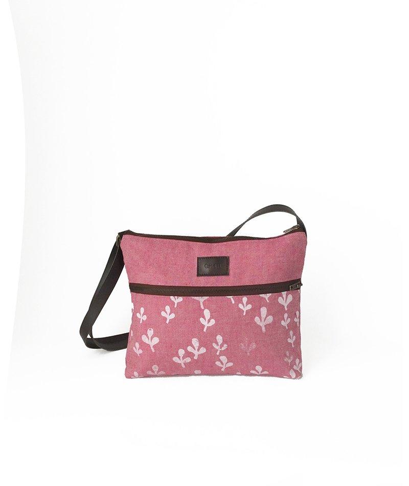 bolso rosa sostenible y vegano