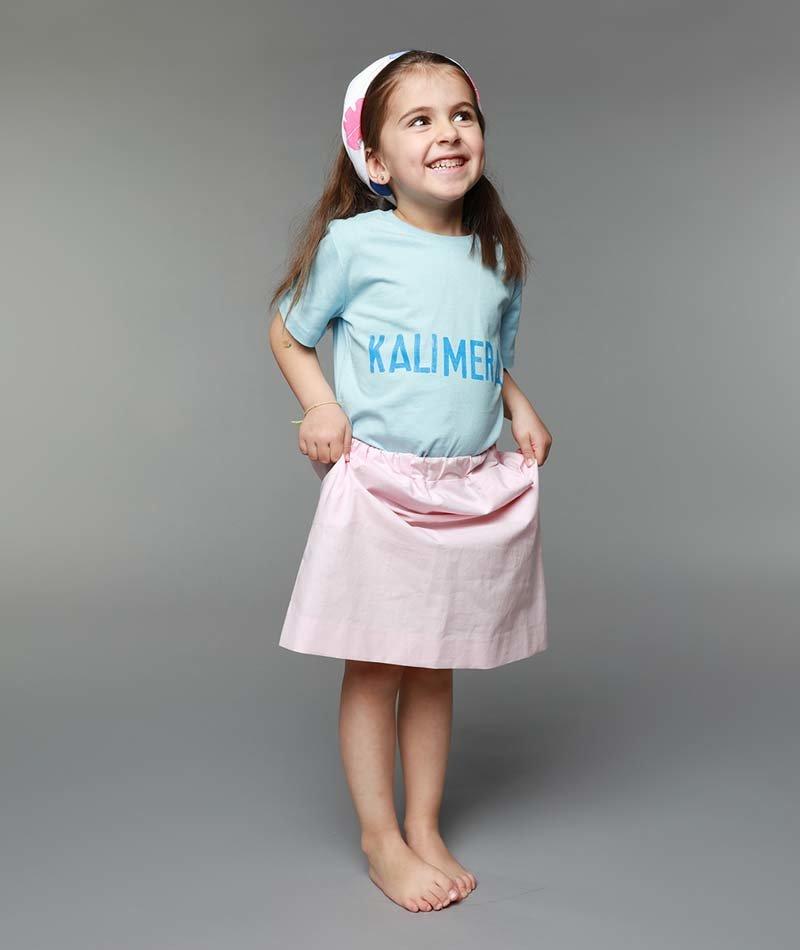 falda niña algodón orgánico