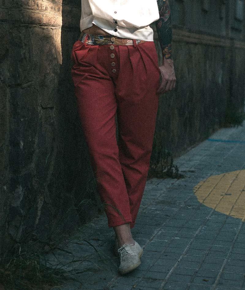 pantalón rosa ecológico algodón mujer