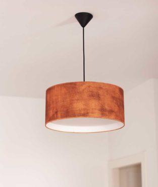 lámpara de techo pintada a mano oxid