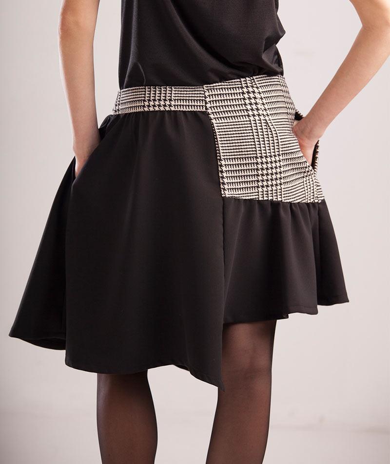 original-falda-gris-negra
