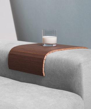 bandeja de sofá de madera de wengué fabricada en girona