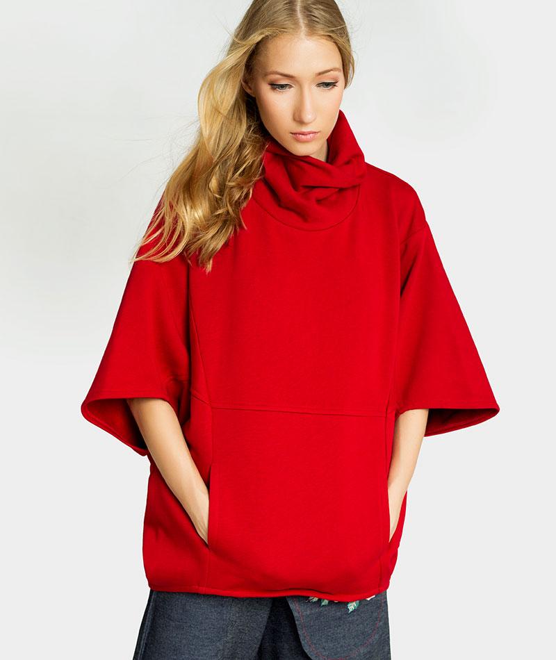 poncho-rojo-algodon-organico-irema-slow