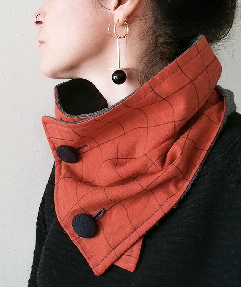 cuello de lino fabricado artesanalmente