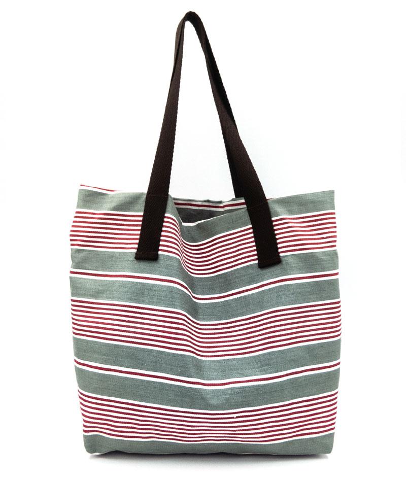 Bolsa de playa tipo capazo de algodón