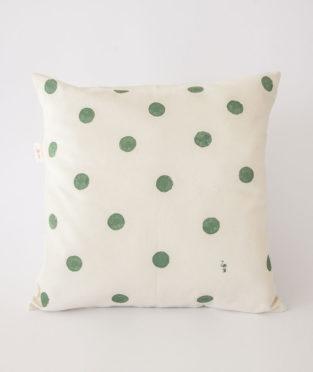 cojin-algodon-organico-lunares-verdes-el-flamenc