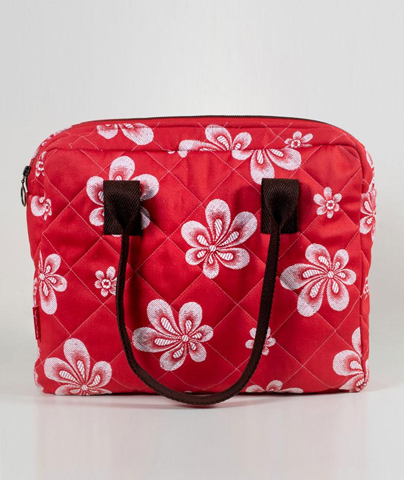 maletín floreado tela adamascada upcycling