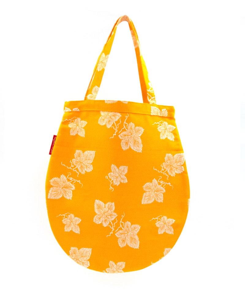 Tote bag pequeña tela vintage colchonera amarilla