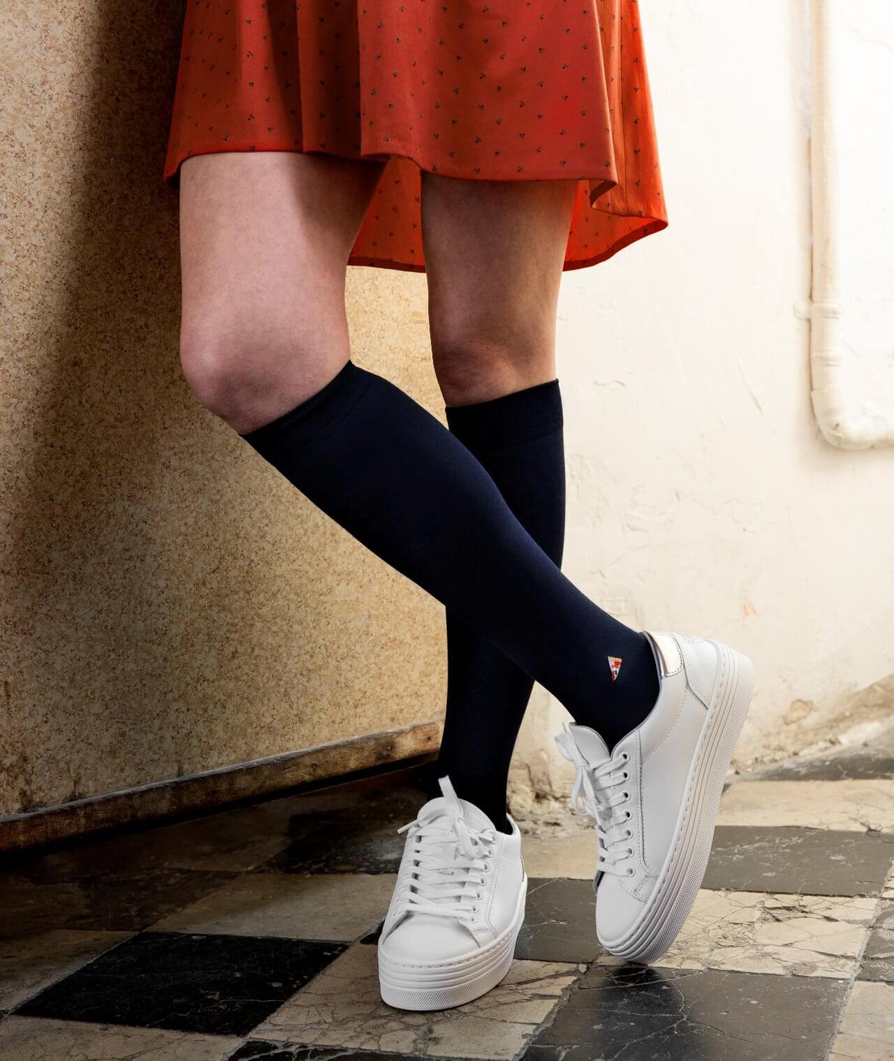 calcetines de algodón largos hechos en España