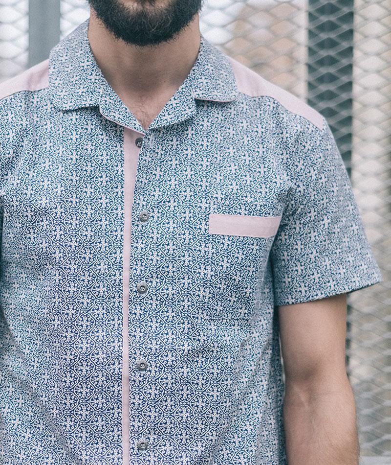 camisa algodón orgánico azul moda sostenible hombre art and seams