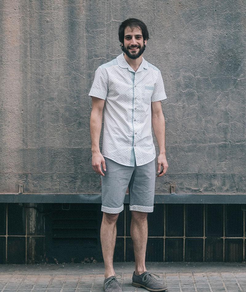 camisa algodón ecológico veraniega moda sostenible hombre the goood shop