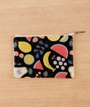 minibolso neceser frutas handmade made in spain