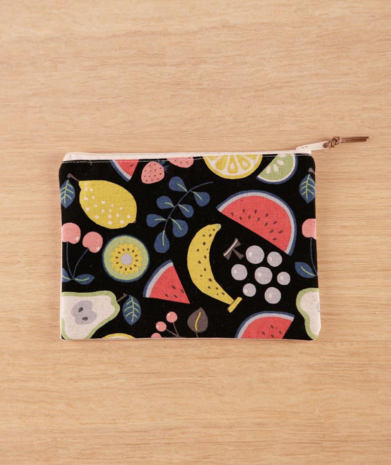 minibolso neceser frutas handmade made in spain