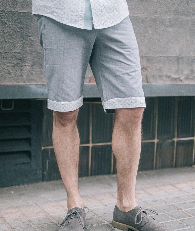 pantalón corto algodón ecológico hombre