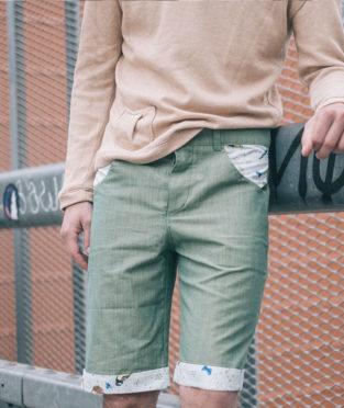 eco-friendly cotton mens shorts