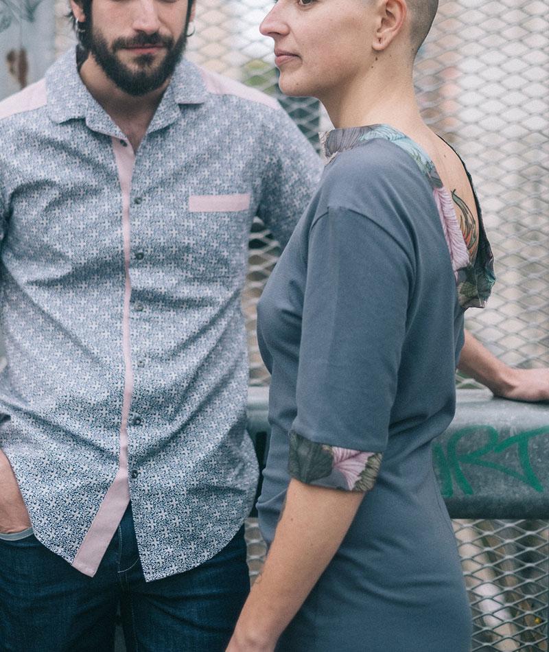 vestido algodón orgánico gris