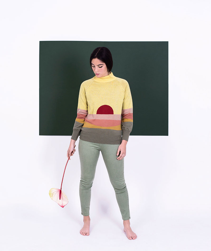 jersey de lana merino atardecer crisalida