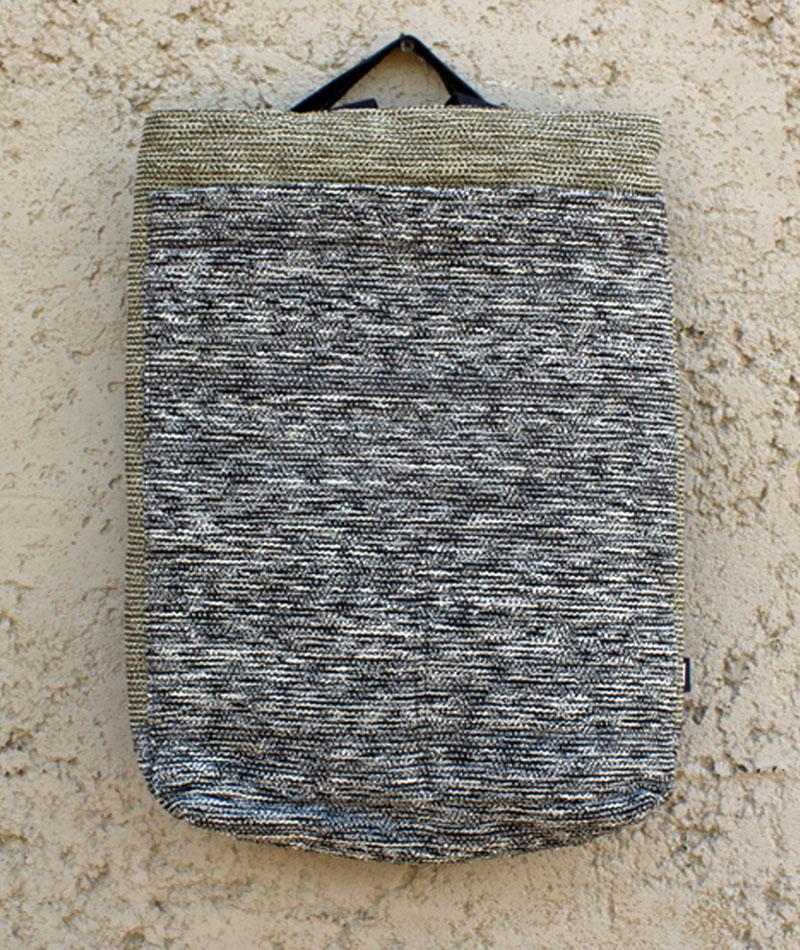 mochila hiroba gris fabricada a mano en españa residuo cero