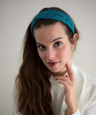 turbante de tela vintage hecho a mano por nuevemí