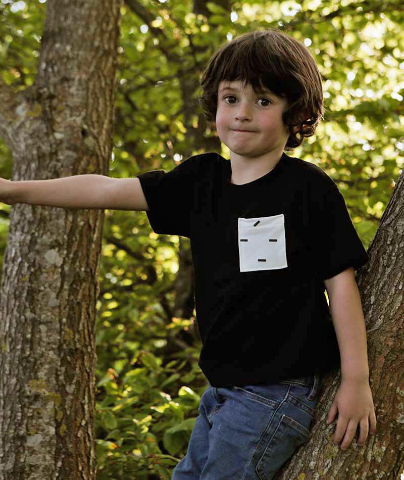 camiseta algodón orgánica infantil unisex